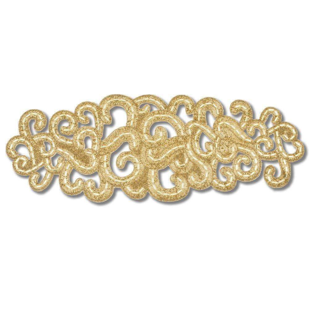 Nomi K Nomi K Small Gold Lace Motif Runner AI-2792SM