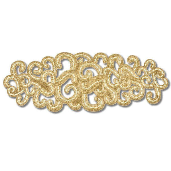 Nomi K Small Gold Lace Motif Runner AI-2792SM