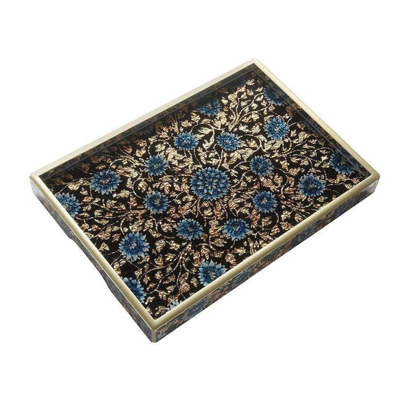 Nomi K Nomi K Tray in Blue and Light Gold Silver LUCYGLDGLTRY