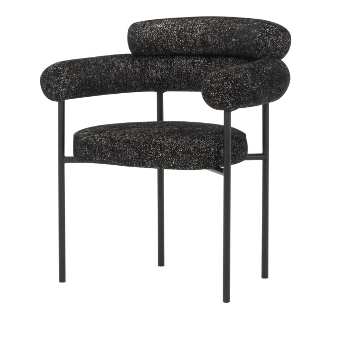 Nuevo Nuevo Portia Dining Chair - Salt and Pepper HGSN110