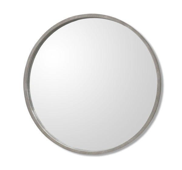 Interlude Home Como Grand Mirror - Sorrel Grey Shagreen Finish