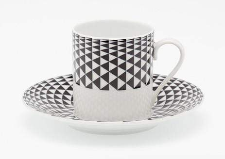 Royal Limoges Royal Limoges Diamonds Coffee Saucer Black T100-REC20748