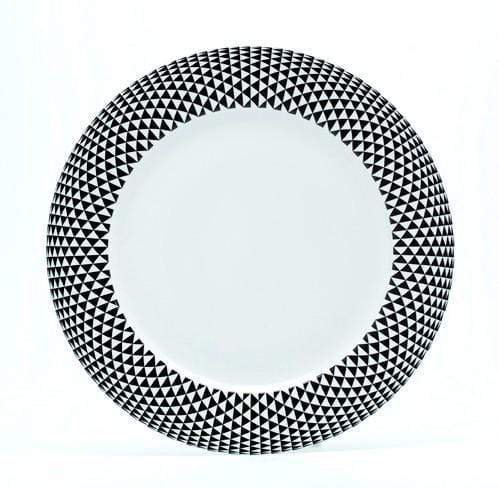 Royal Limoges Black Diamonds Dinner Plate B275-REC20748