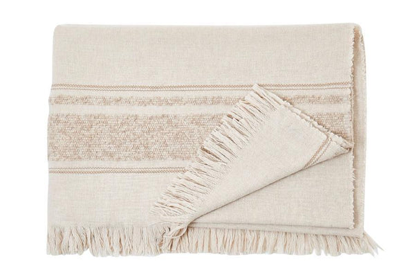 S. Harris S. Harris Little Nell Cashmere Throw Blanket in Tan 7631701