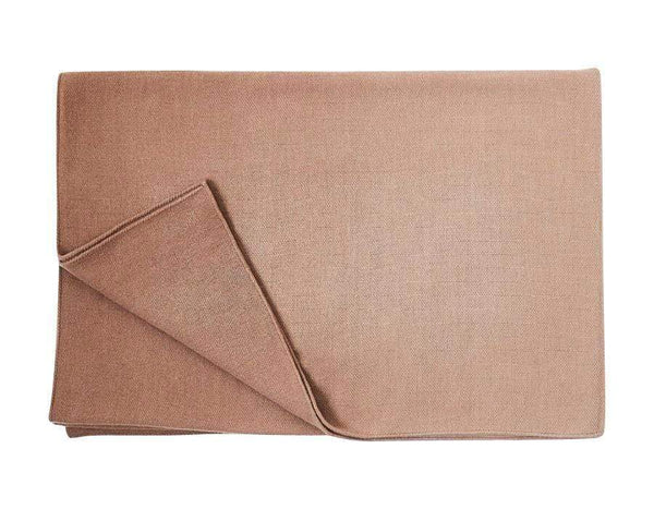 S. Harris Spring Ombre Cashmere Throw Blanket in Beige 7680104