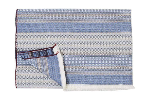 S. Harris St. Regis Cashmere Throw Blanket in Bluestone 7632301
