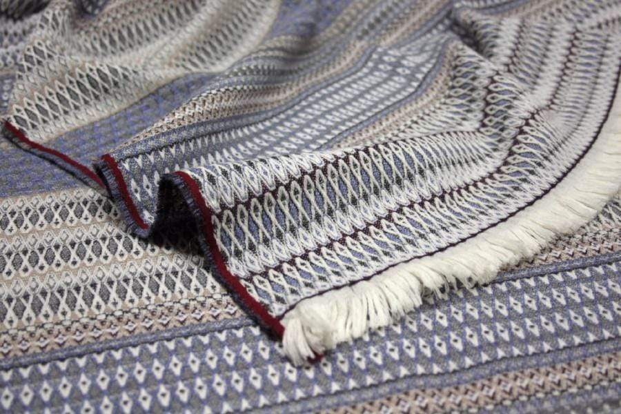 S. Harris S. Harris St. Regis Cashmere Throw Blanket in Bluestone 7632301