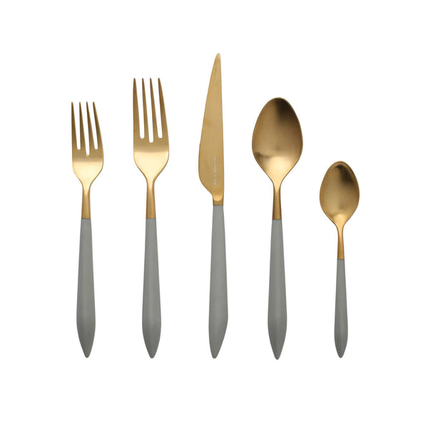 Vietri Vietri Ares Five Piece Place Setting - Gold & Gray ARS-9800GLG