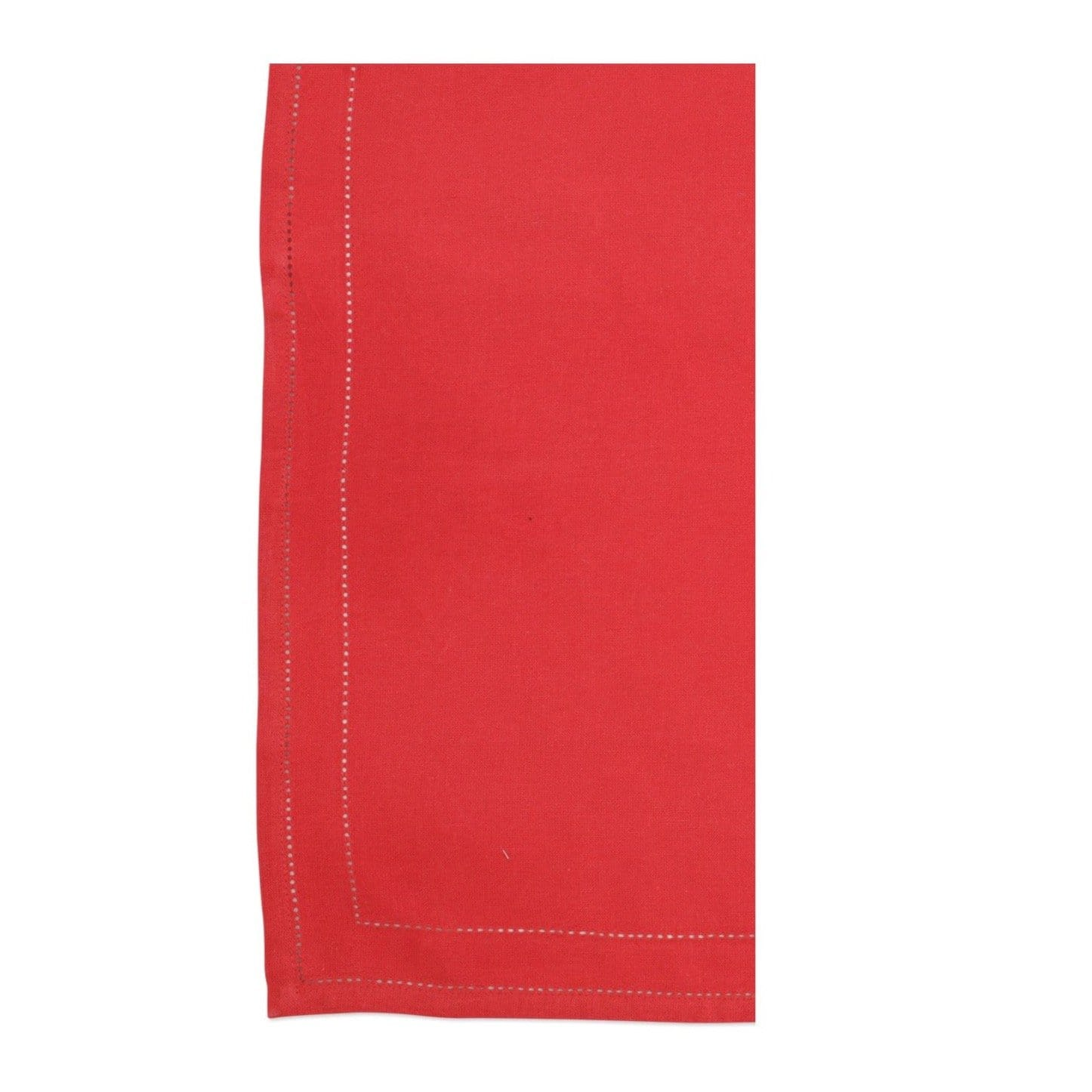 Vietri Cotone Linens Napkins with Double Stitching - Red - Set of 4