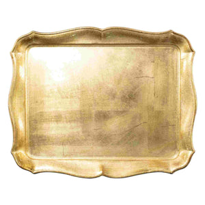 Vietri Vietri Florentine Wooden Gold Accessory Rectangular Tray FWD-6212