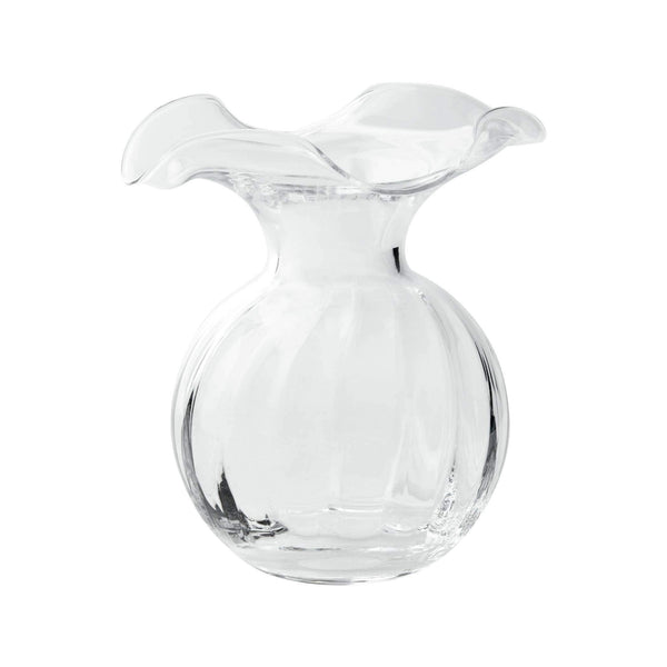 Vietri Hibiscus Glass Fluted Vase - 3 Available Sizes