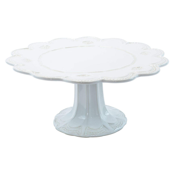 Vietri Incanto Stone Lace Large Cake Stand SINC-W1173