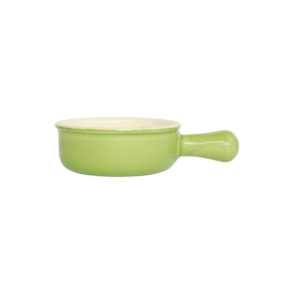 Vietri Italian Bakers Green Round Baker w/ Large Handle ITB-G2956