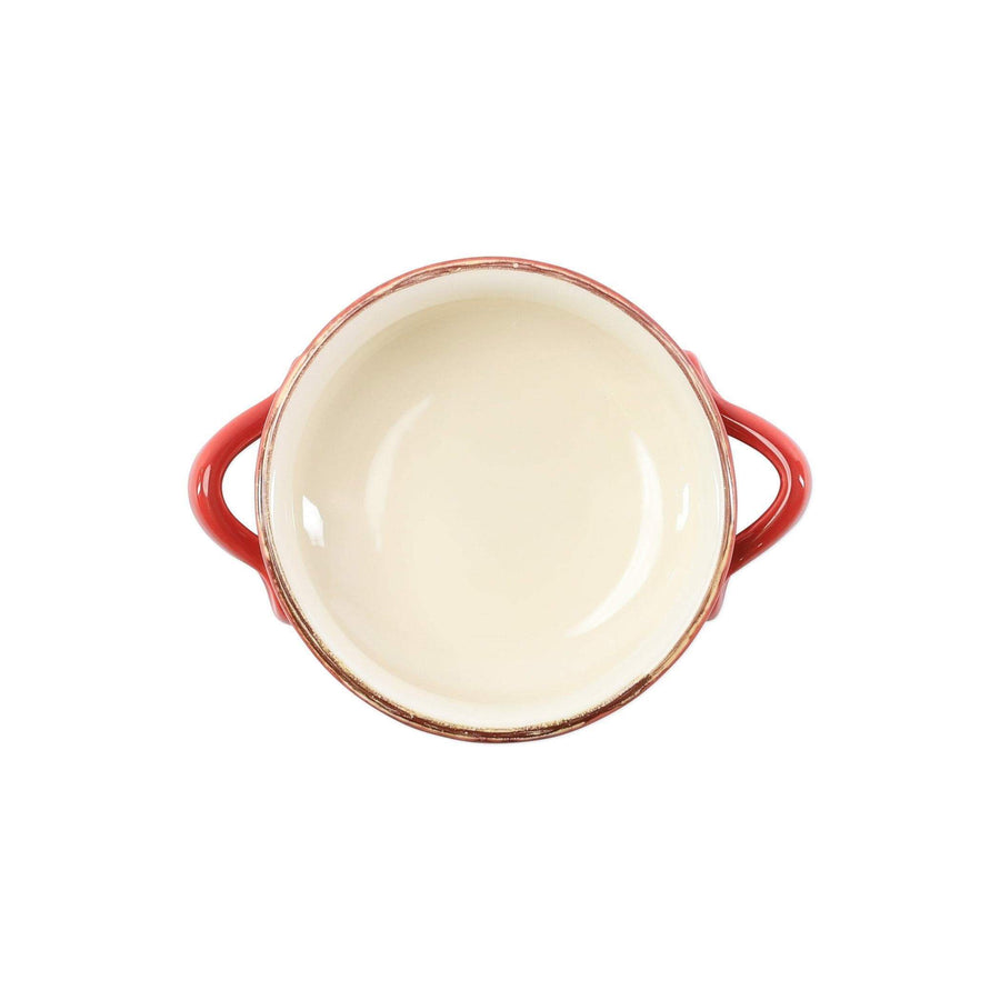 Vietri Italian Bakers Red Handled Round Baker ITB-R2955