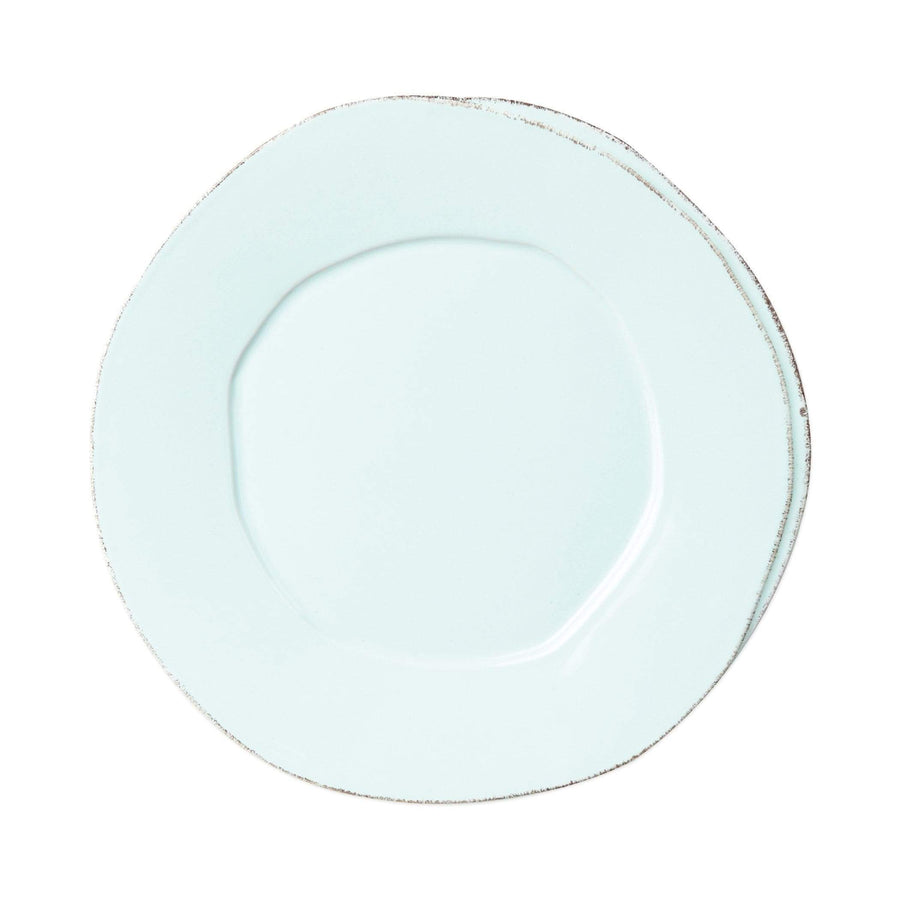 Vietri White Lastra European Dinner Plate - Available in 6 Colors LAS-2606W