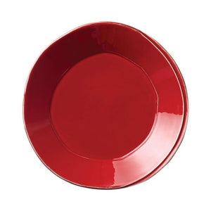 Vietri Vietri Lastra European Dinner Plate - Available in 6 Colors Red LAS-2606R