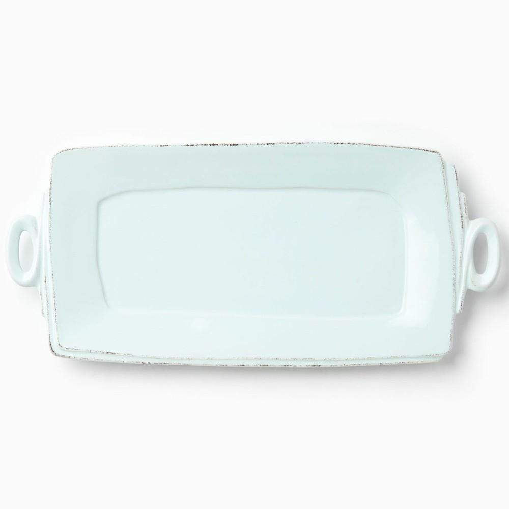 Vietri Vietri Lastra Handled Rectangular Serving Platter - Available in 6 Colors White LAS-2623W