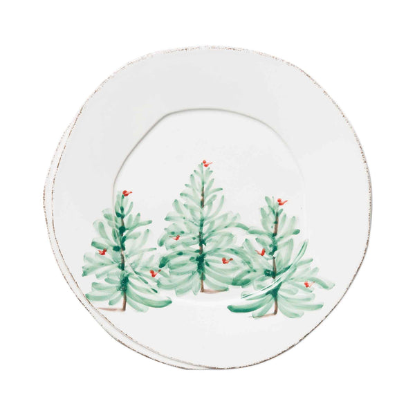 Vietri Lastra Holiday European Dinner Plate - Set of 4 LAH-2606