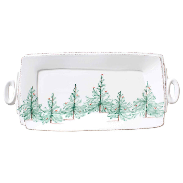 Vietri Vietri Lastra Holiday Rectangular Handled Platter LAH-2623