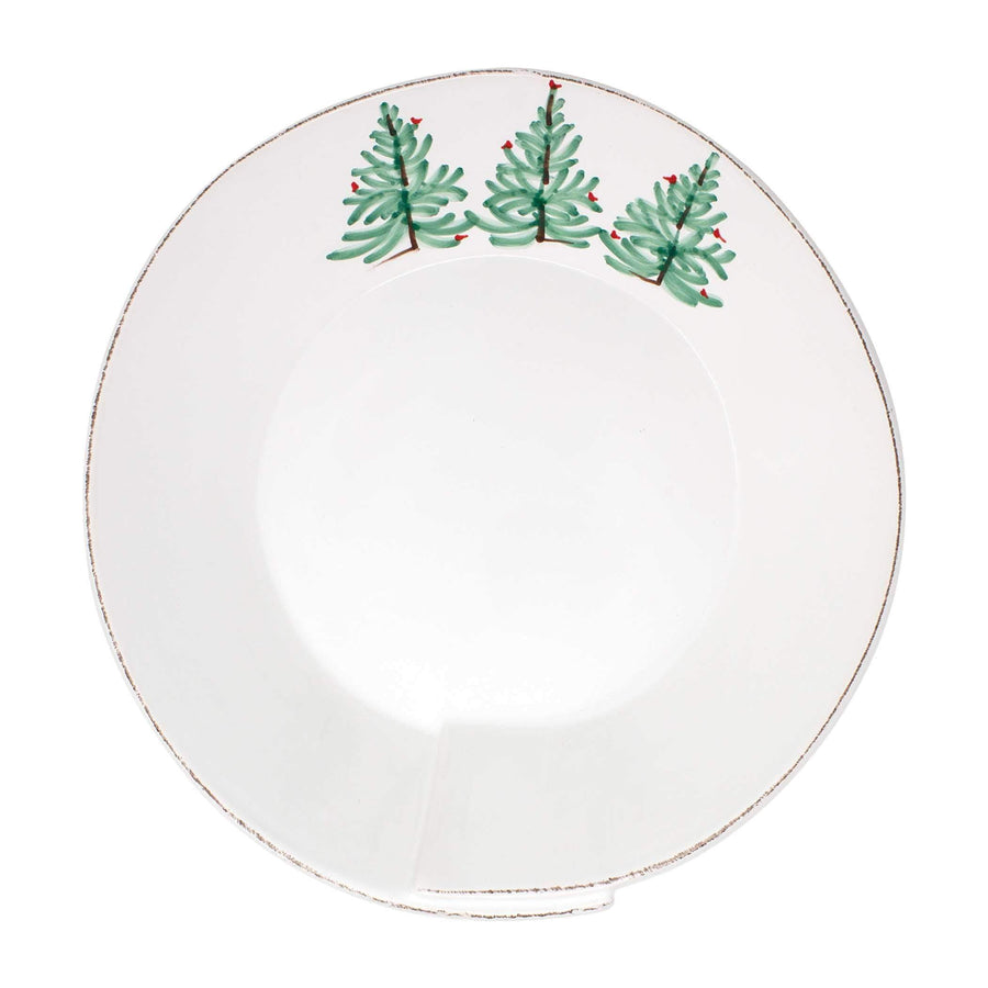 Vietri Vietri Lastra Holiday Large Shallow Serving Bowl LAH-26026