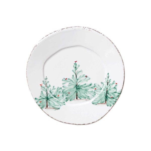 Vietri Lastra Holiday Salad Plate - Set of 4 LAH-2601