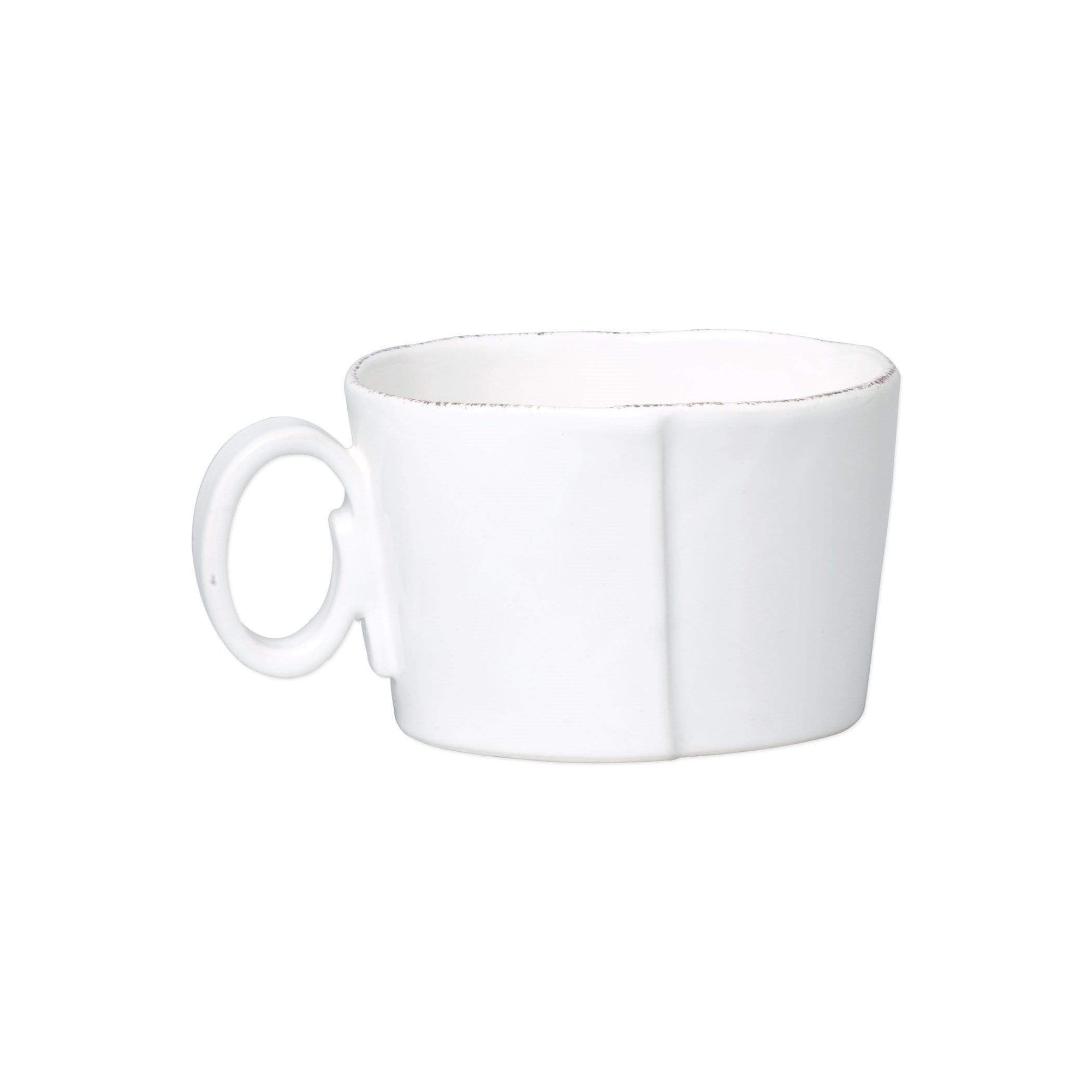 Vietri Vietri Lastra Jumbo Cup - Available in 6 Colors White LAS-2611W