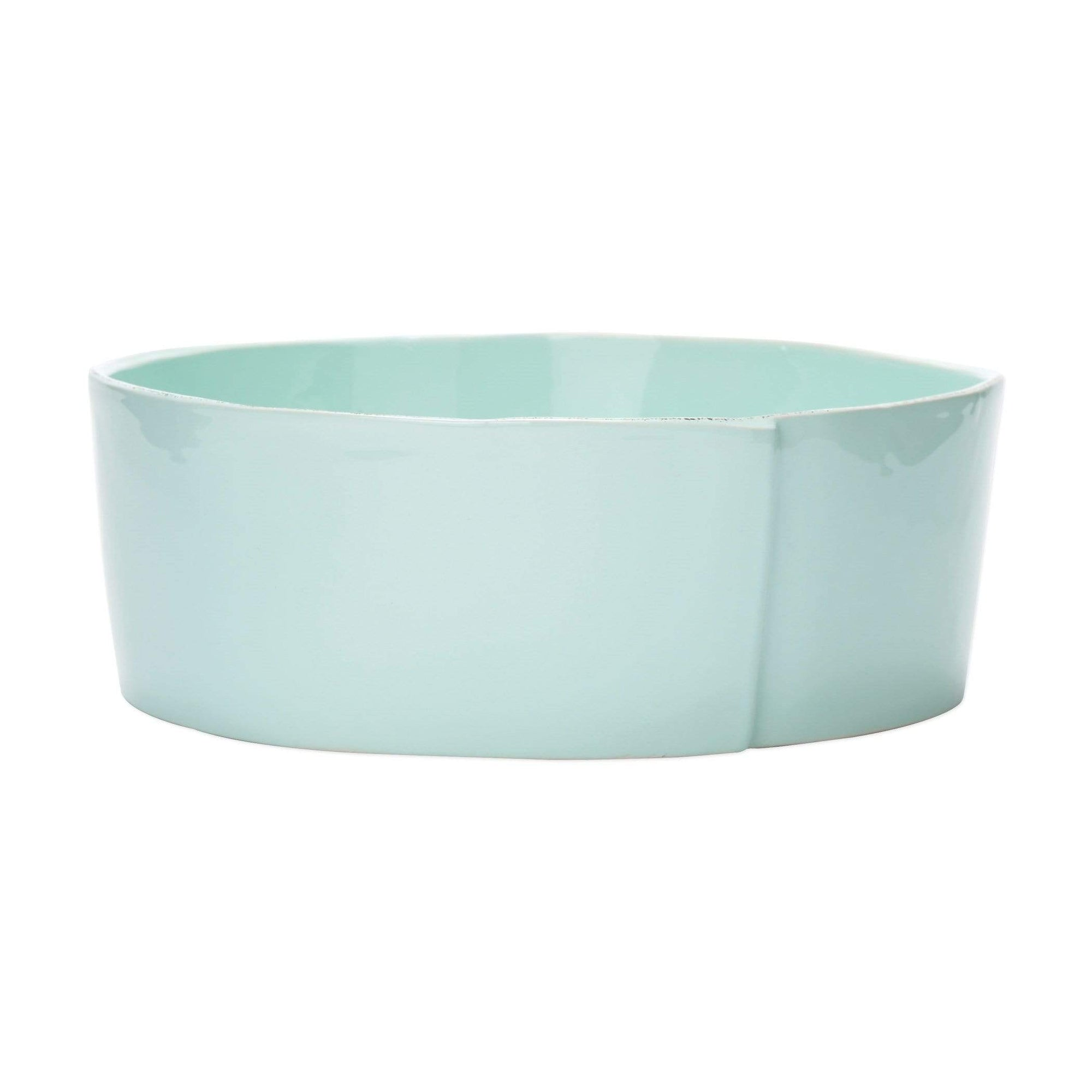 Vietri Vietri Lastra Large Serving Bowls - Available in 6 Colors White LAS-2632W