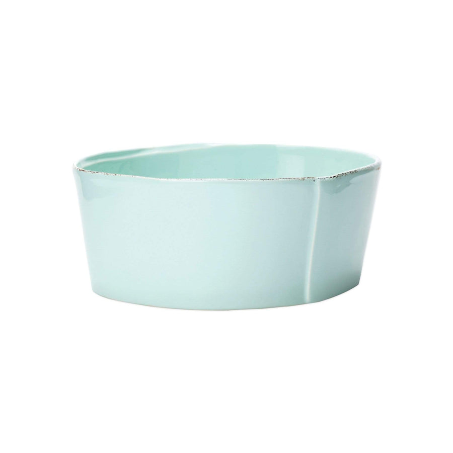Vietri Vietri Lastra Medium Serving Bowls - Available in 6 Colors White LAS-2631W