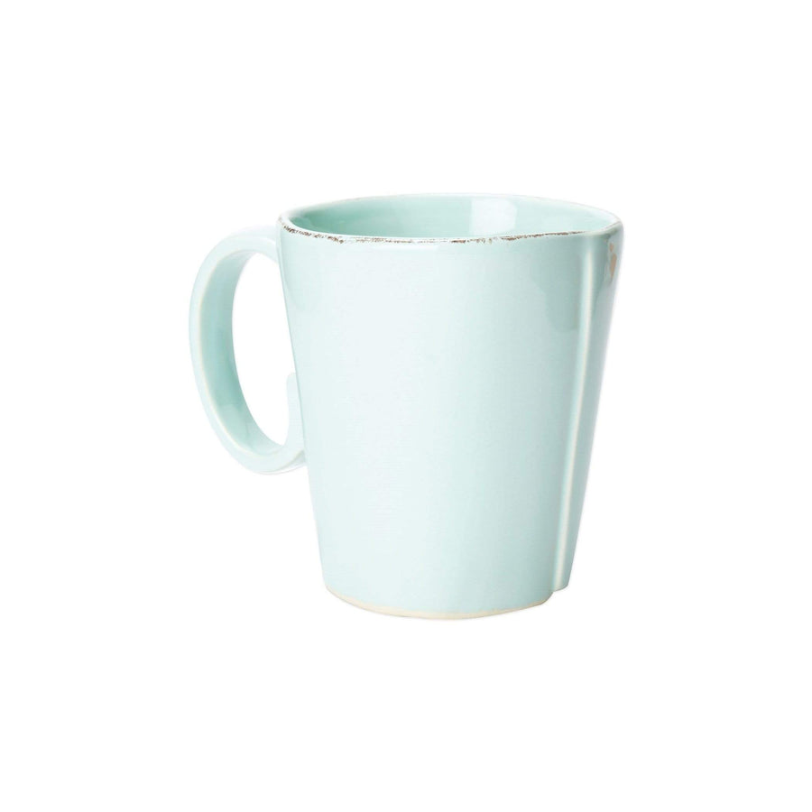 Vietri Vietri Lastra Mug -Set Of 4 - Available in 6 Colors White LAS-2610W