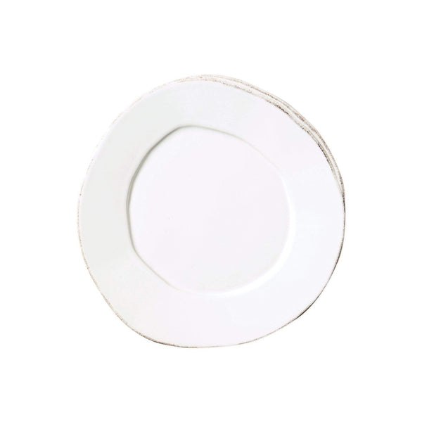 Vietri White Lastra Salad Plate - Available in 6 Colors LAS-2601W