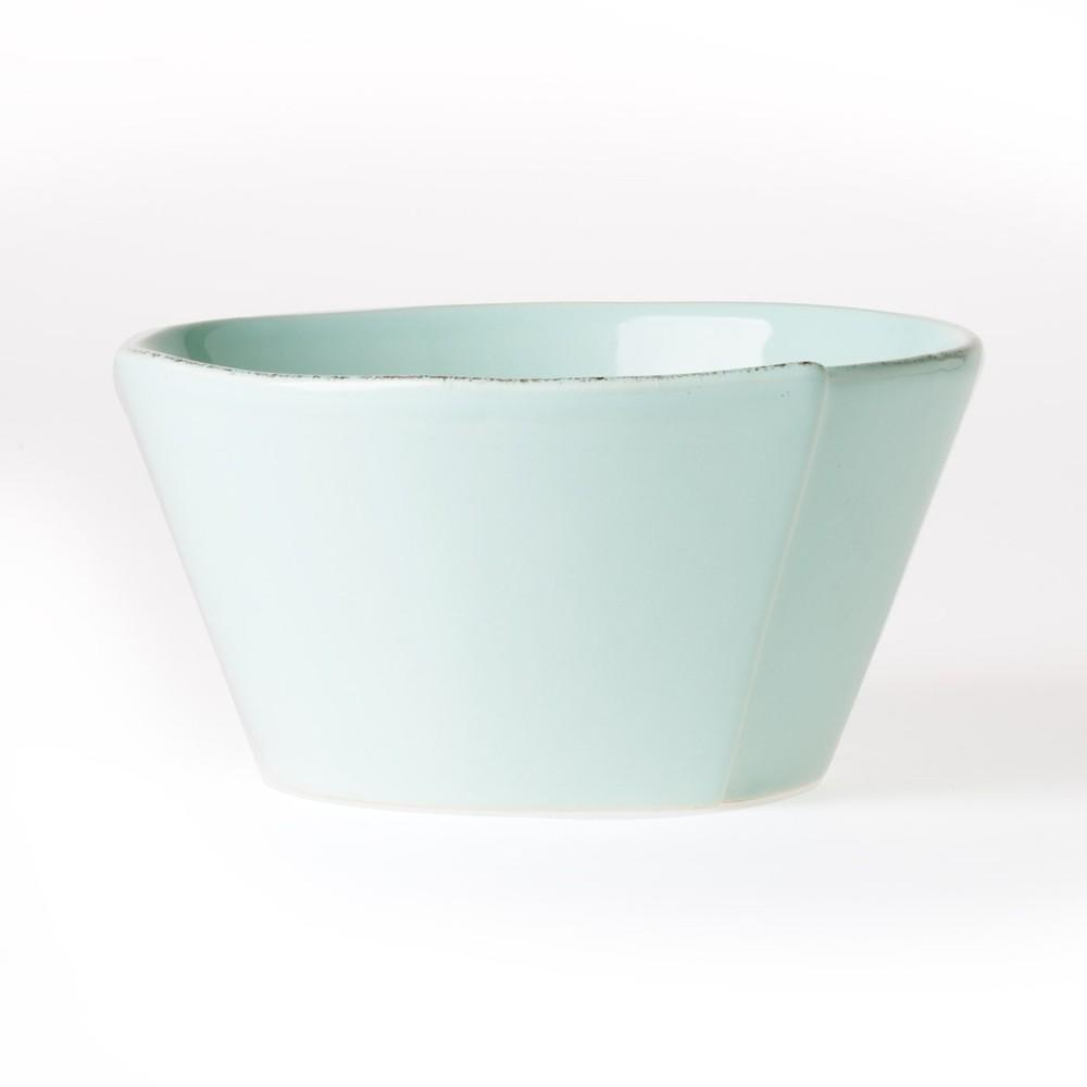 Vietri Vietri Lastra Stacking Cereal Bowl - Available in 6 Colors White LAS-2602W
