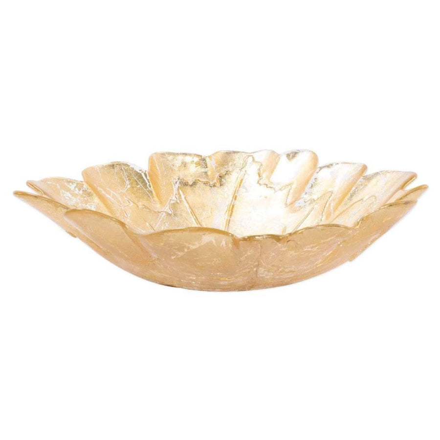 Vietri Moon Glass Leaf Medium Bowl MNN-5237