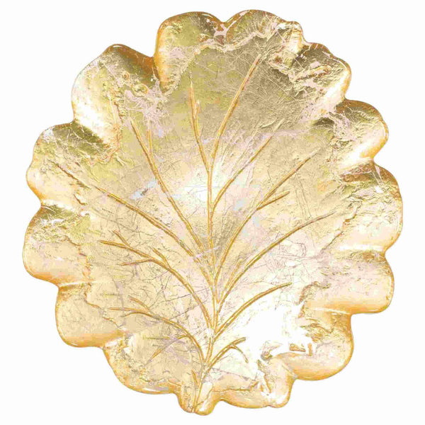 Vietri Moon Glass Leaf Platter MNN-5222