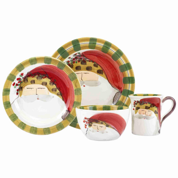 Vietri Vietri Old St. Nick Animal Hat Four-Piece Place Setting OSN-7800CS-4