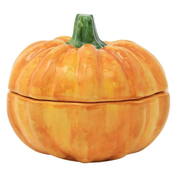 Vietri Pumpkins Figural Covered Pumpkin Bowl
