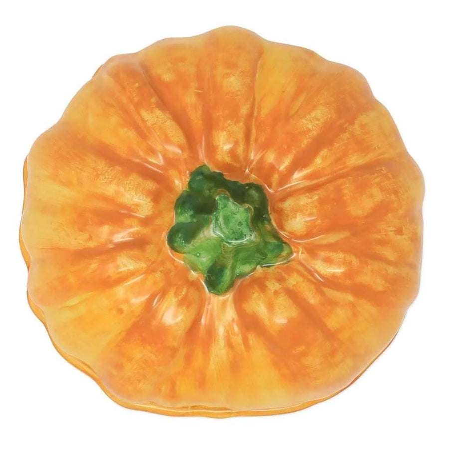 Vietri Vietri Pumpkins Figural Covered Pumpkin Bowl