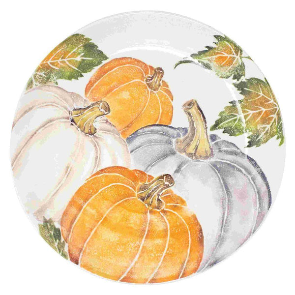 Vietri Vietri Pumpkins Large Serving Bowl with Assorted Pumpkins PKN-9732