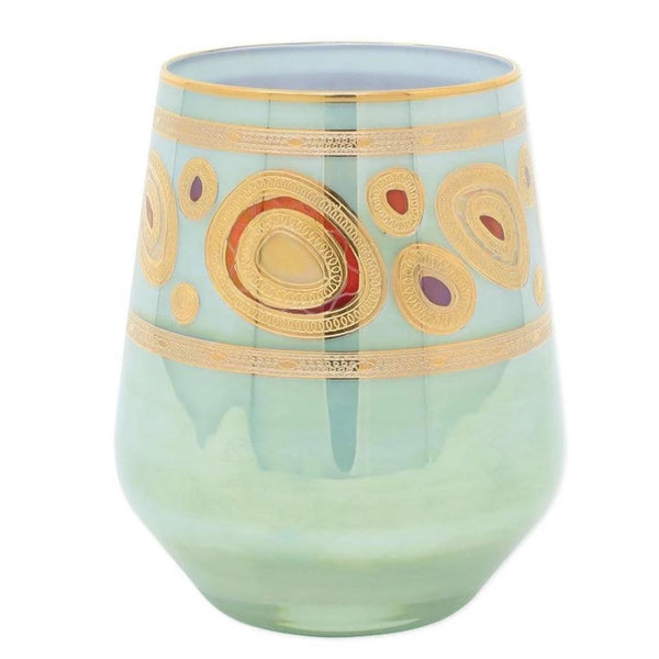 Vietri Vietri Regalia Stemless Wine Glass - 4 Available Colors Aqua RGI-7621A