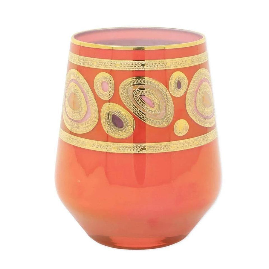 Vietri Aqua Regalia Stemless Wine Glass - 4 Available Colors RGI-7621A