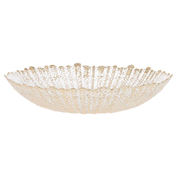 Vietri Vietri Rufolo Glass Gold Large Serving Bowl RUF-5236