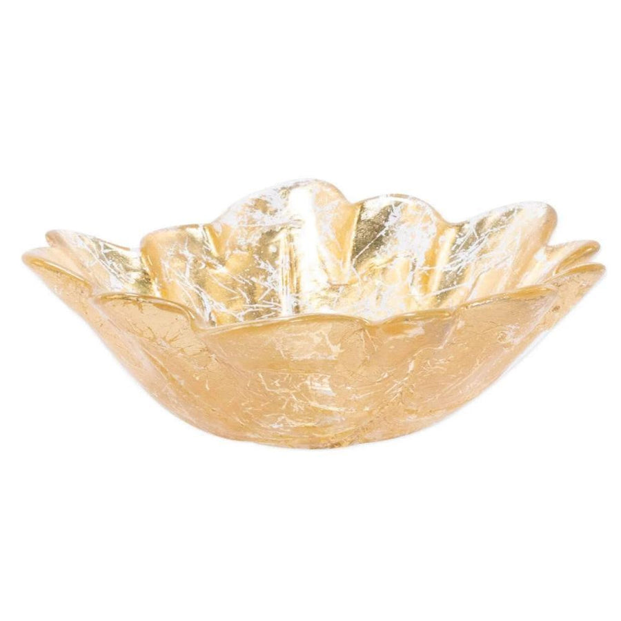 Vietri Set of 4 Moon Glass Leaf Small Bowl MNN-5207-GB