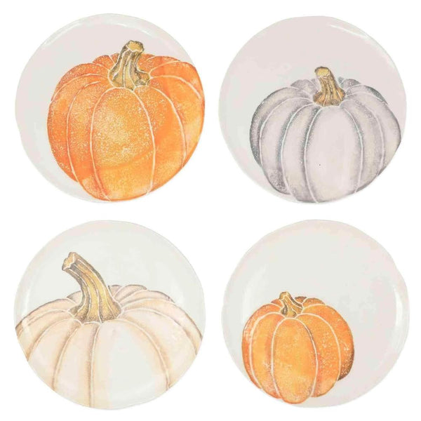 Vietri Set of 4 Pumpkins Assorted Salad Plates PKN-9701