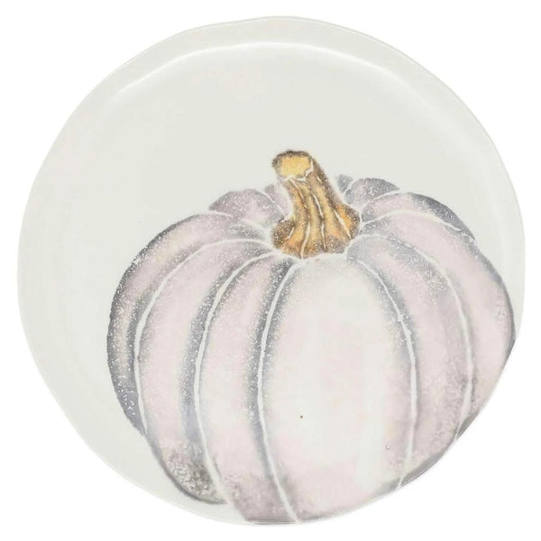 Vietri Set of 4 Pumpkins Salad Plate - Gray Medium Pumpkin PKN-9701D