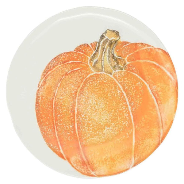 Vietri Set of 4 Pumpkins Salad Plate - Orange Medium Pumpkin PKN-9701B