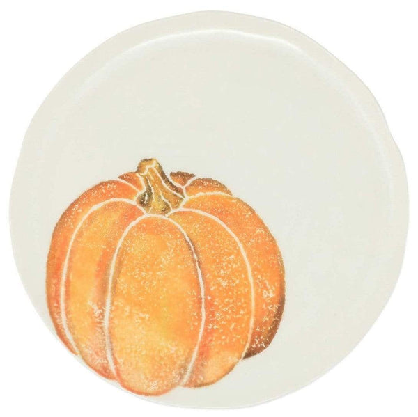 Vietri Set of 4 Pumpkins Salad Plate - Orange Small Pumpkin PKN-9701A