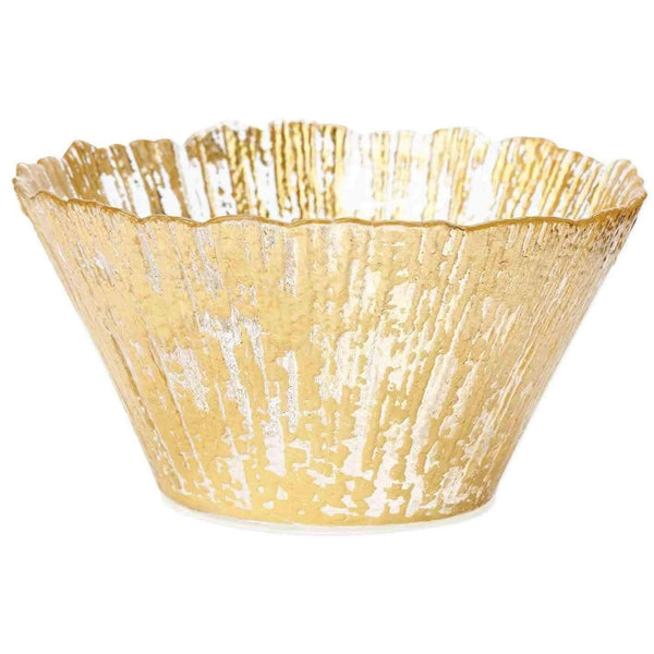 Vietri Vietri Rufolo Glass Gold Small Deep Bowl RUF-5205