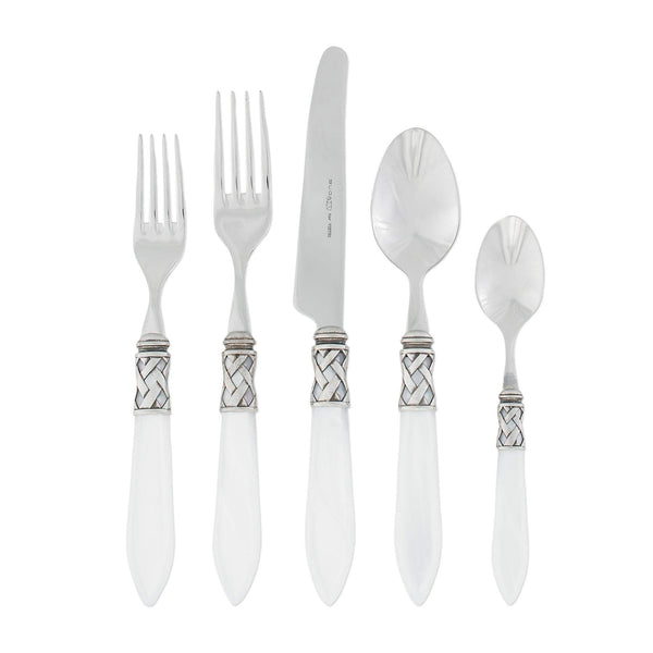 Vietri Vietri Aladdin Antique White 5-Piece Place Setting ALD-9800W