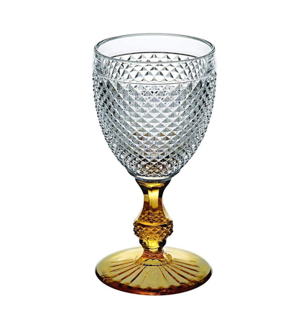 Vista Alegre Bicos Bicolor Goblet with Amber Stem 49000427