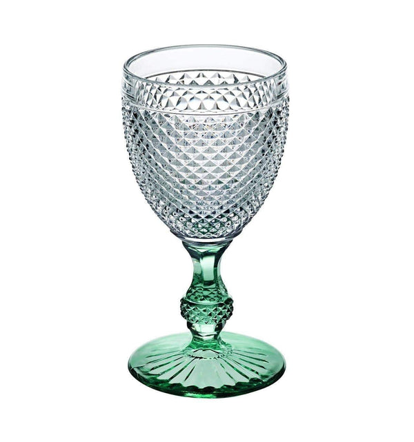 Vista Alegre Bicos Bicolor Goblet with Green Stem 49000429