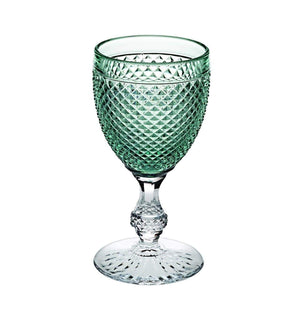 Vista Alegre Bicos Bicolor Goblet with Green Top